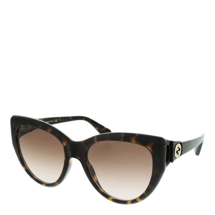 Sonnenbrille, Gucci, GG0877S-002 56 Sunglass WOMAN INJECTION HAVANA