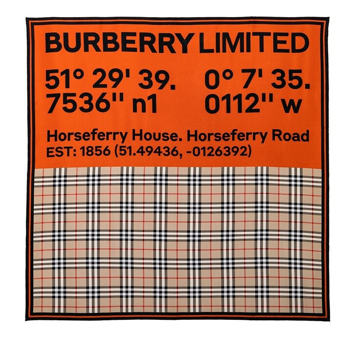 Schal, Burberry, Printed Scarf Archive Beige/Orange