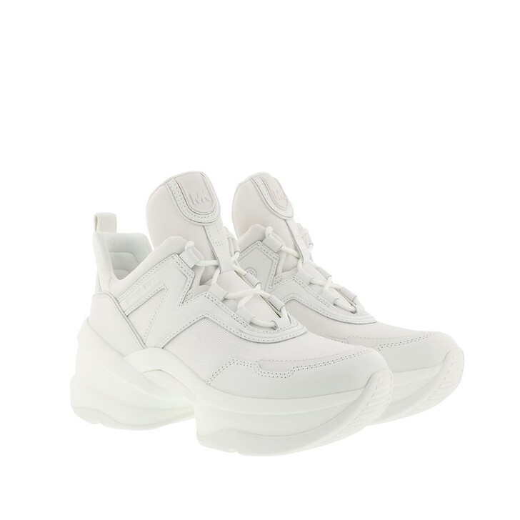 shoes, MICHAEL Michael Kors, Olympia Trainer Sneakers Optic White