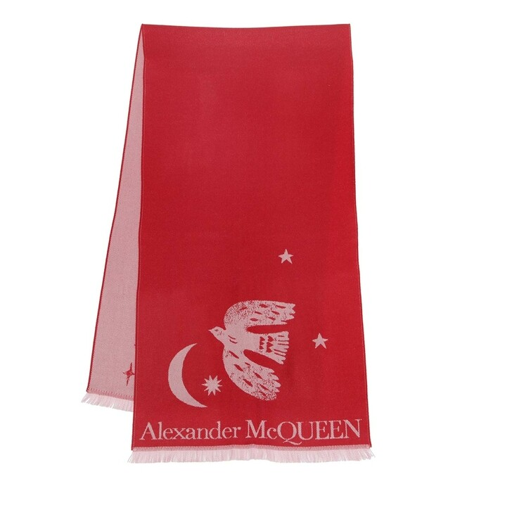 scarves, Alexander McQueen, Mystical Overs Scarf Lacquer/Pink