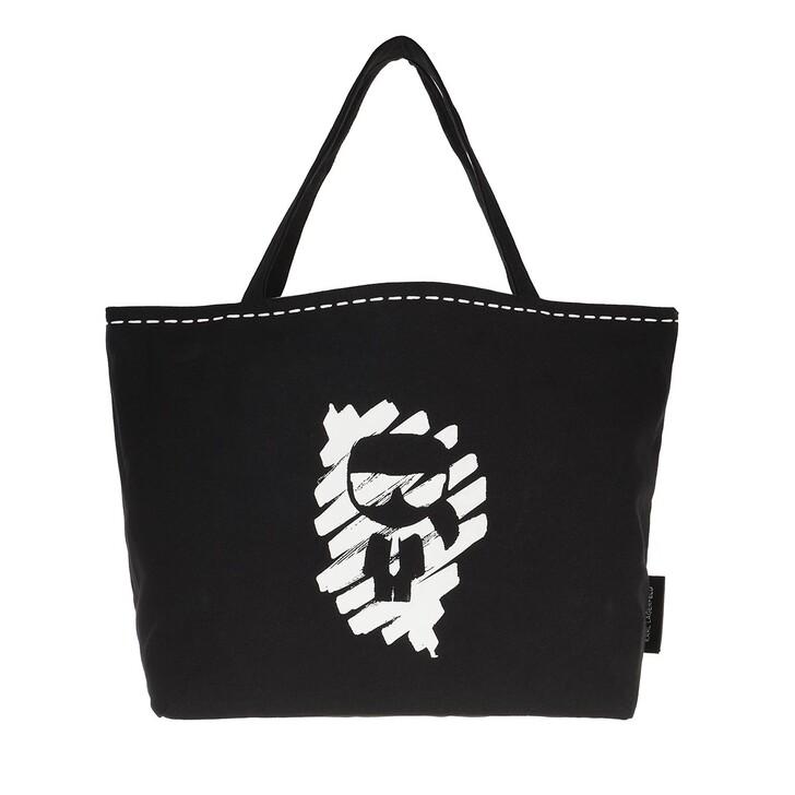 Handtasche, Karl Lagerfeld, Ikonik Graffiti Rev Tote Black