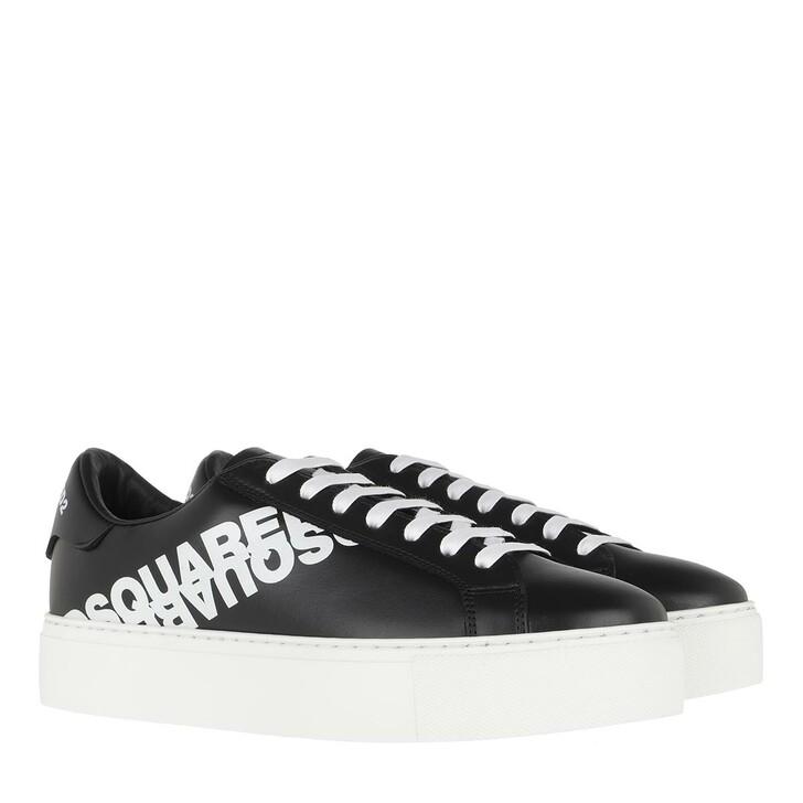 Schuh, Dsquared2, Flatform Sneakers Metallic Black/White