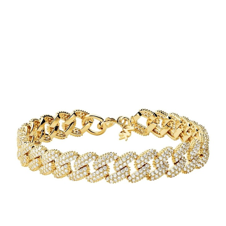 Armreif, Michael Kors, Statement Link Sterling Silver Bracelet Yellow Gold