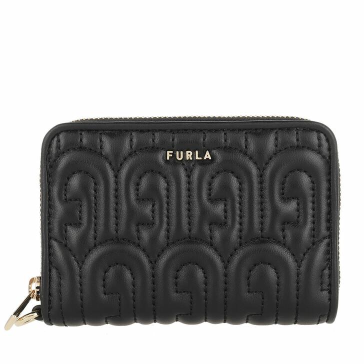 wallets, Furla, Cosy Small Zip Around Wallet Nero