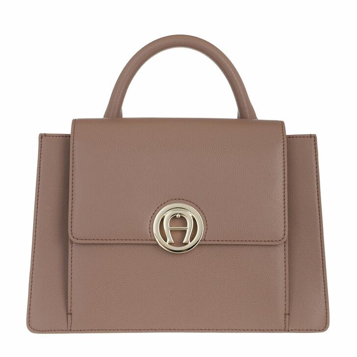 bags, AIGNER, Livia Handbag Mushroom Brown