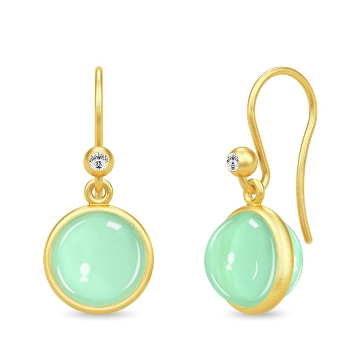 earrings, Julie Sandlau, Primula Earrings Yellow Gold