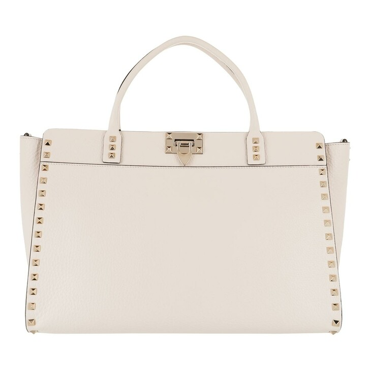 Handtasche, Valentino Garavani, Satchel Bag Leather Light Ivory