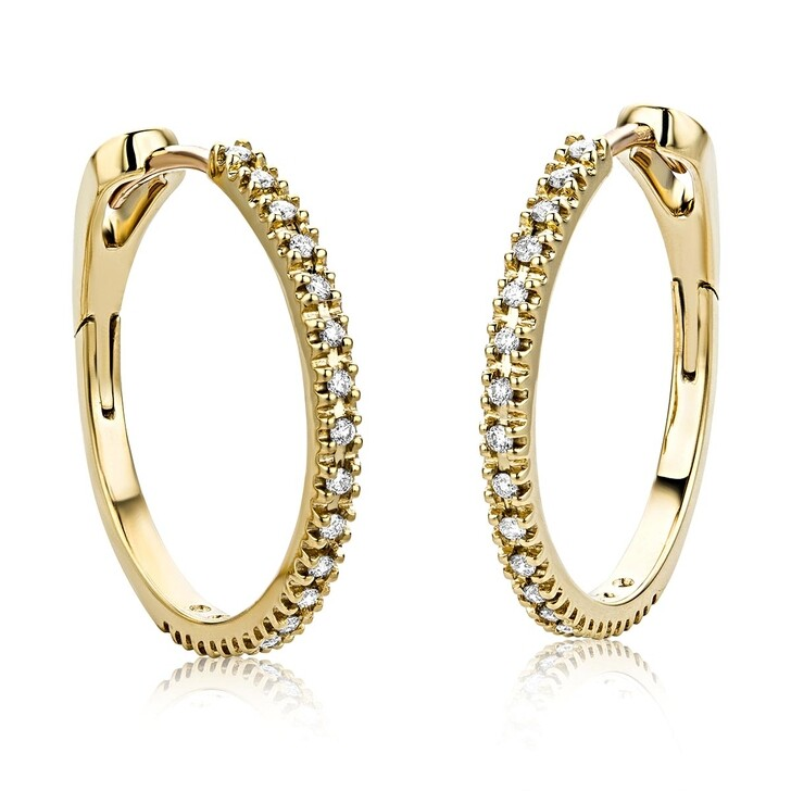 Ohrring, DIAMADA, 18KT 0.18ct Diamond Creole Earring Yellow Gold