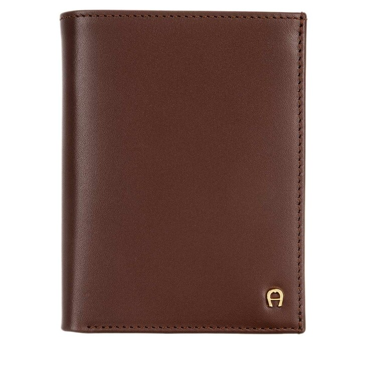 Geldbörse, AIGNER, Basic Wallet Leather Cognac
