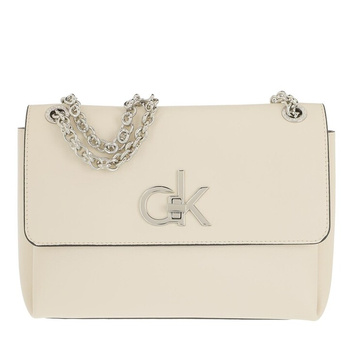 Handtasche, Calvin Klein, Convertible Flap Medium Crossbody Bag Birch