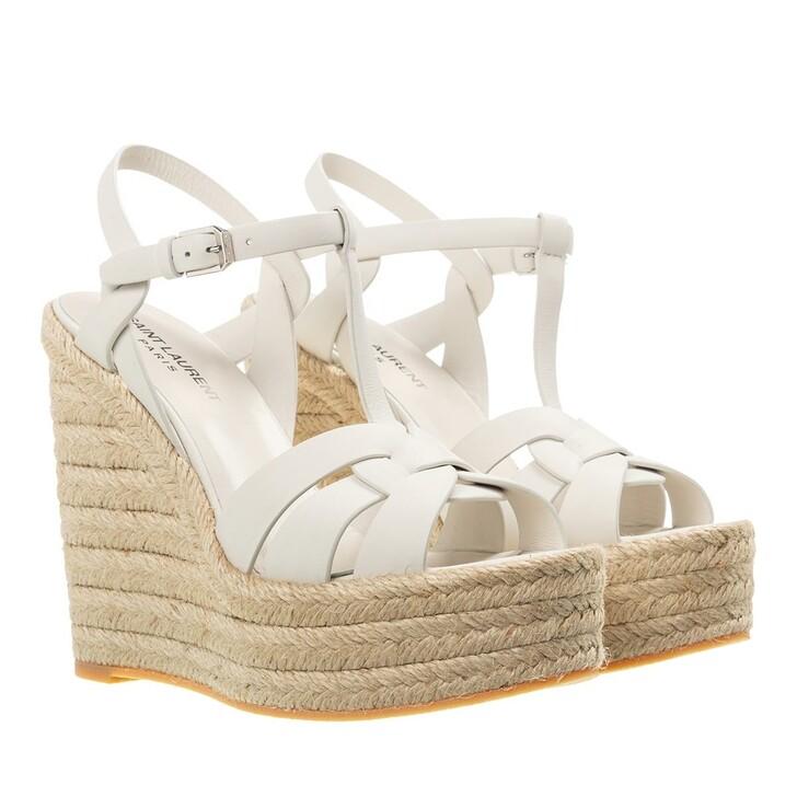 Schuh, Saint Laurent, Alta Espadrilles White