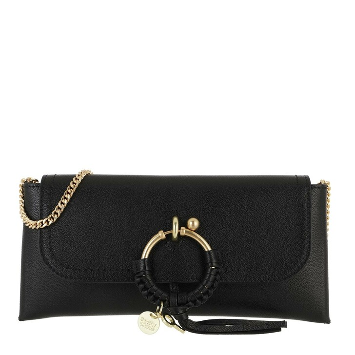 Handtasche, See By Chloé, Crossbody Cowhide Leather Suede Black