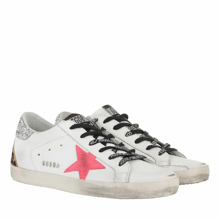 Schuh, Golden Goose, Superstar Sneakers White/Fuchsia Fluo