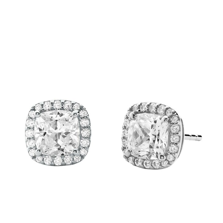 Ohrring, Michael Kors, Brilliance Sterling Silver Cushion Cut Earring Silver