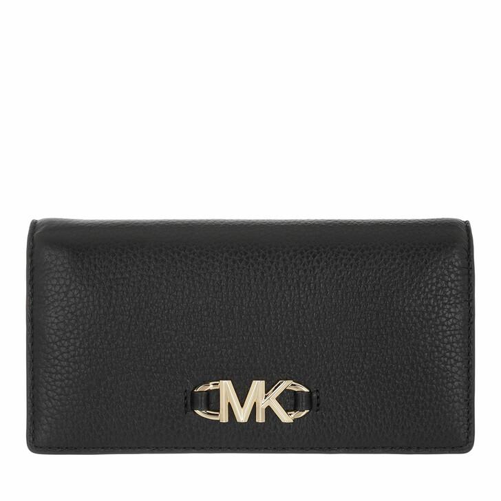 wallets, MICHAEL Michael Kors, Izzy Large Slim Wallet Black