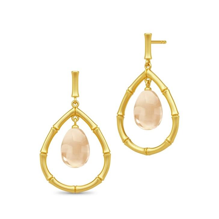 Ohrring, Julie Sandlau, Bamboo Wisdom Droplet Earrings Gold/Champagne
