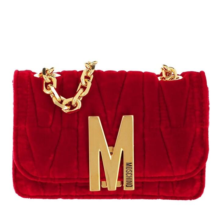 bags, Moschino, Borsa Tracolla Fantasia Rosso