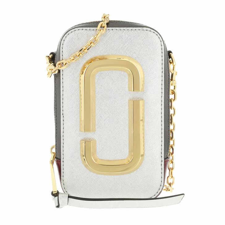bags, Marc Jacobs, The Hot Shot Shoulder Bag Leather Silver Multi