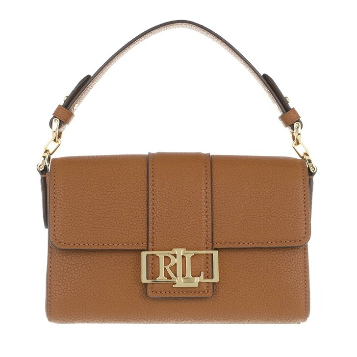 Handtasche, Lauren Ralph Lauren, Spencer 21 Shoulder Small Lauren Tan