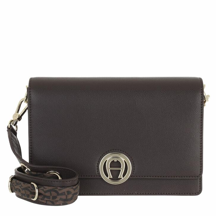 bags, AIGNER, Livia Crossbody Bag Espresso Brown