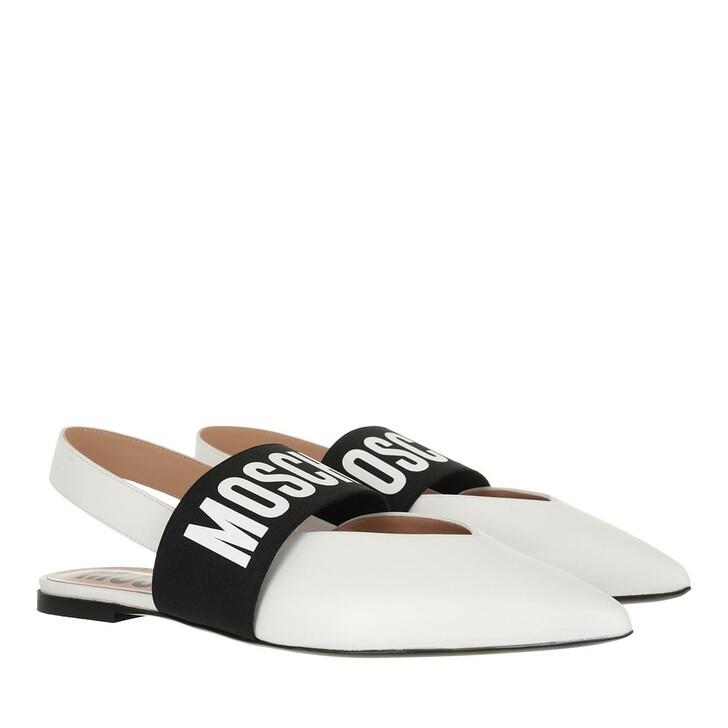 shoes, Moschino, Scarpad Em Mh63/05 Vitello  Bianco