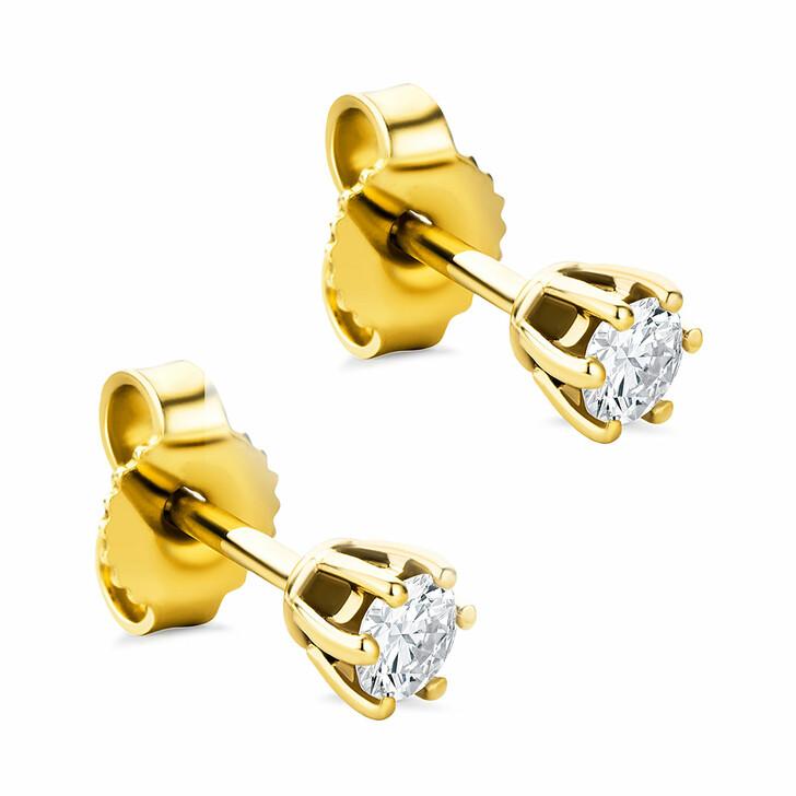 earrings, DIAMADA, 14KT 0.25ct Diamond Earring Yellow Gold