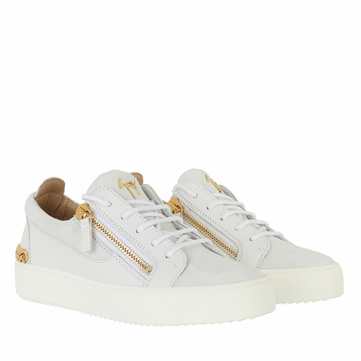 shoes, Giuseppe Zanotti, Camoscio In Sp 1 Sneakers White