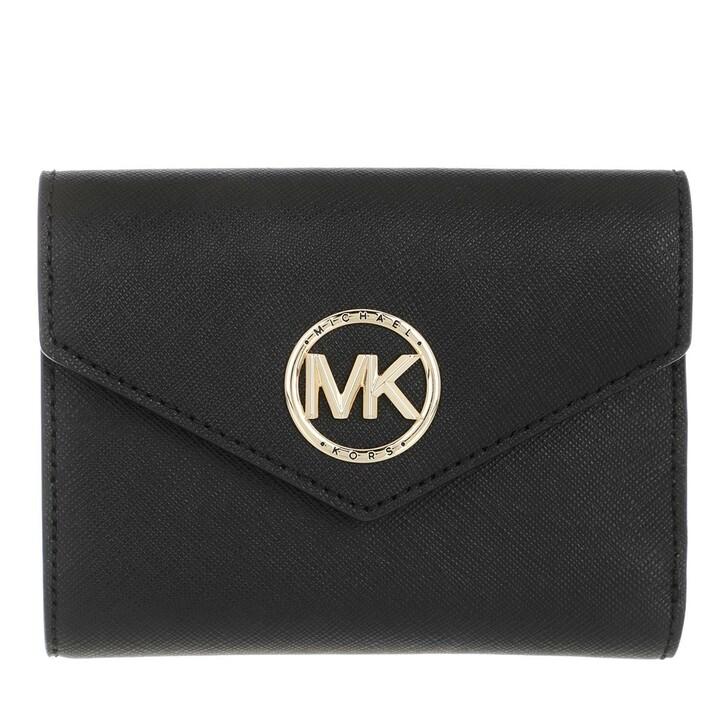 Geldbörse, MICHAEL Michael Kors, Medium Env Trifold Wallet  Leather Black