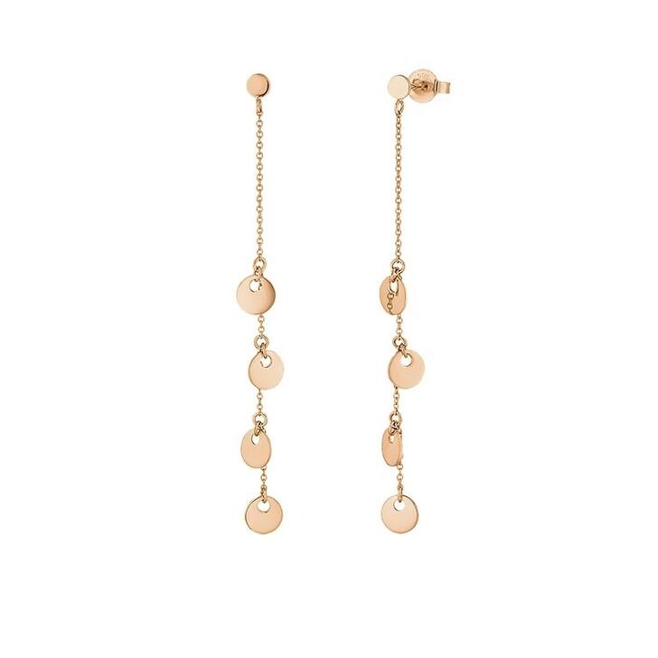 Ohrring, Leaf, Earrings Platelet Necklace 18K Rose Gold
