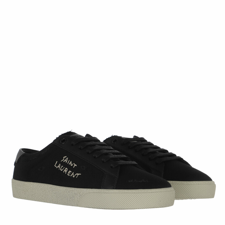 Schuh, Saint Laurent, Embroidered Sneakers Nero
