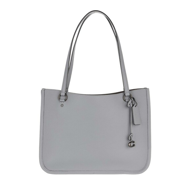Handtasche, Coach, Polished Pebble Leather Tyler Carryall Granite