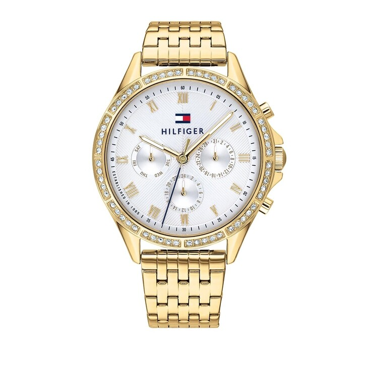 Uhr, Tommy Hilfiger, Multifunctional Watch Yellow Gold