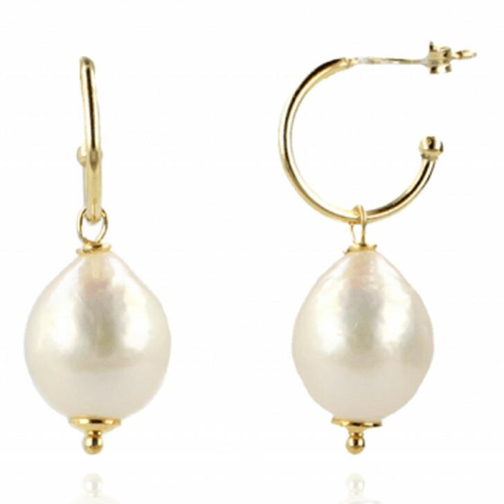 earrings, LOTT.gioielli, Earring Pearl Pendant Large Pearl and Gold