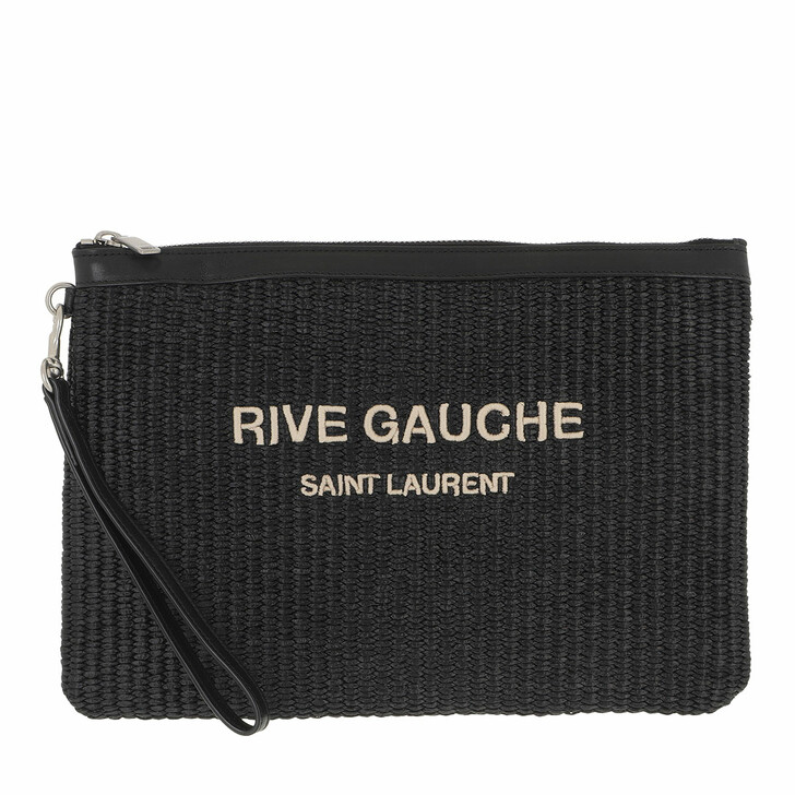 bags, Saint Laurent, Rive Gauche Zipped Pouch Black