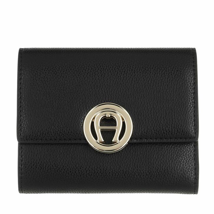 wallets, AIGNER, Livia Wallet Black