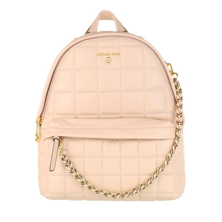 Reisetasche, MICHAEL Michael Kors, Slater Medium Quilted Leather Backpack Soft Pink