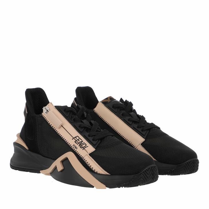 shoes, Fendi, Logo Sneakers Black Beige