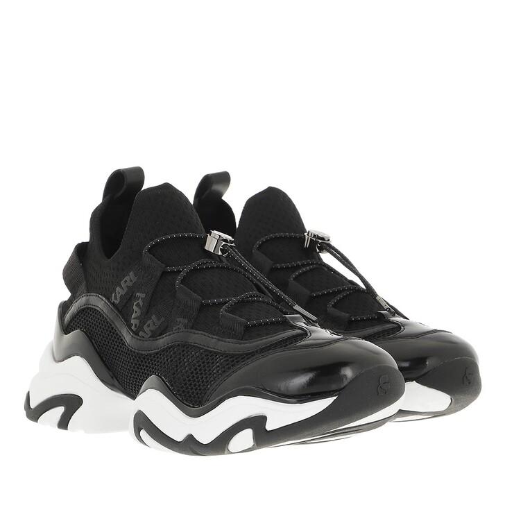 shoes, Karl Lagerfeld, GEMINI Krosslace Lo Mix Black Leather & Textile