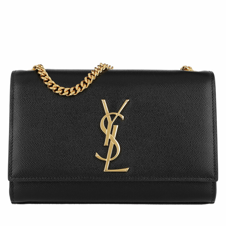 Handtasche, Saint Laurent, Monogramme Shoulder Bag Leather Black/Gold