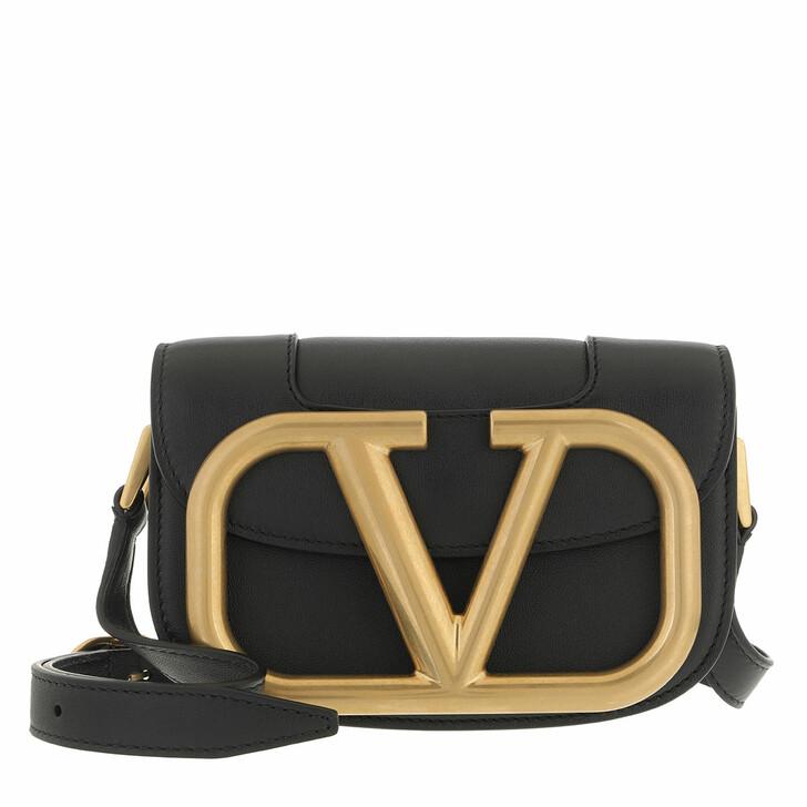 bags, Valentino Garavani, Supervee Crossbody Bag Small Black