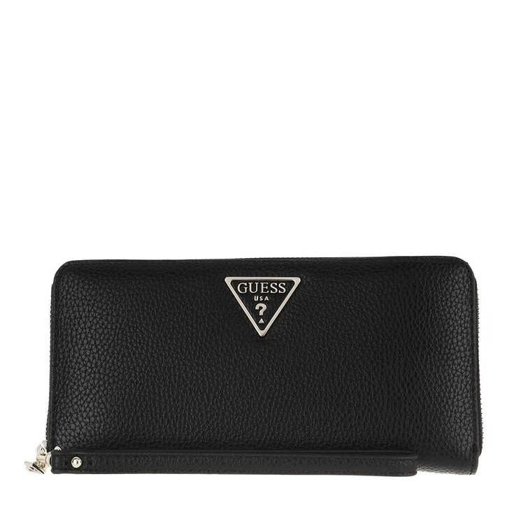 wallets, Guess, Becca Wallet Large Zip Around Black
