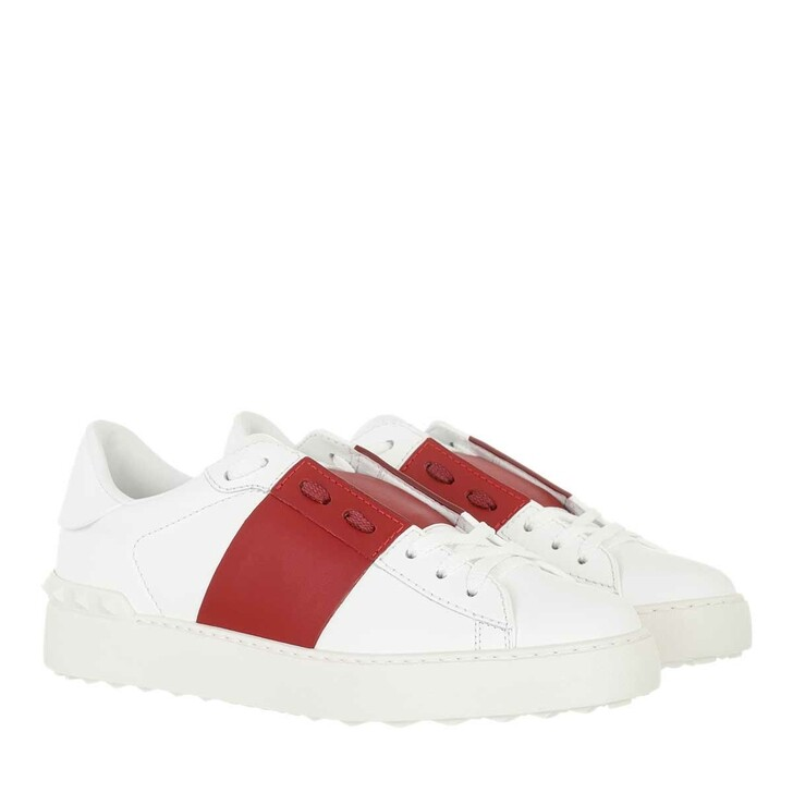 shoes, Valentino Garavani, Bicolor Rockstud Sneaker White Red