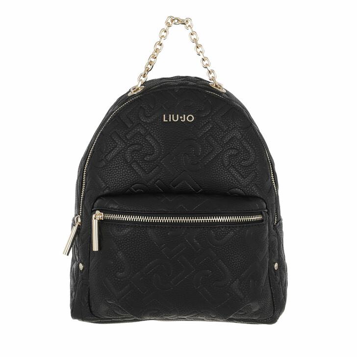Reisetasche, LIU JO, Ecs M Backpack Black
