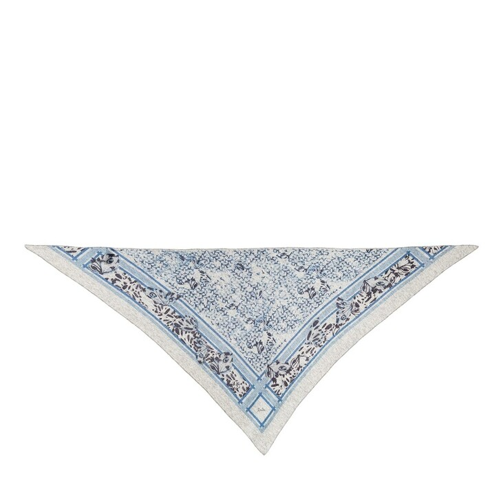 Schal, Lala Berlin, Triangle Butterfly M Scarf Butterfly Flanella and Blue