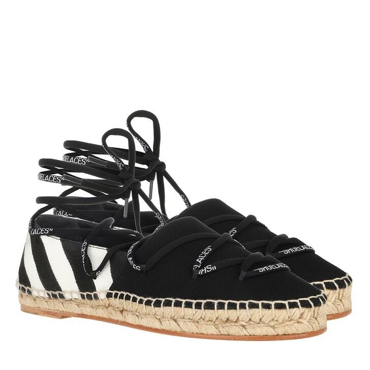 Schuh, Off-White, Diag Canvas Espadrilles White/Black