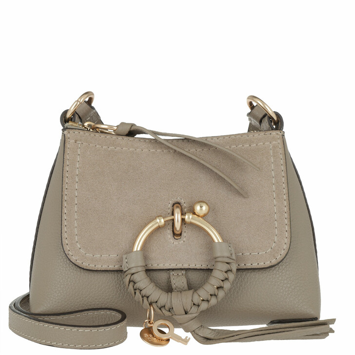 Handtasche, See By Chloé, Joan Crossbody Bag Mini Motty Grey