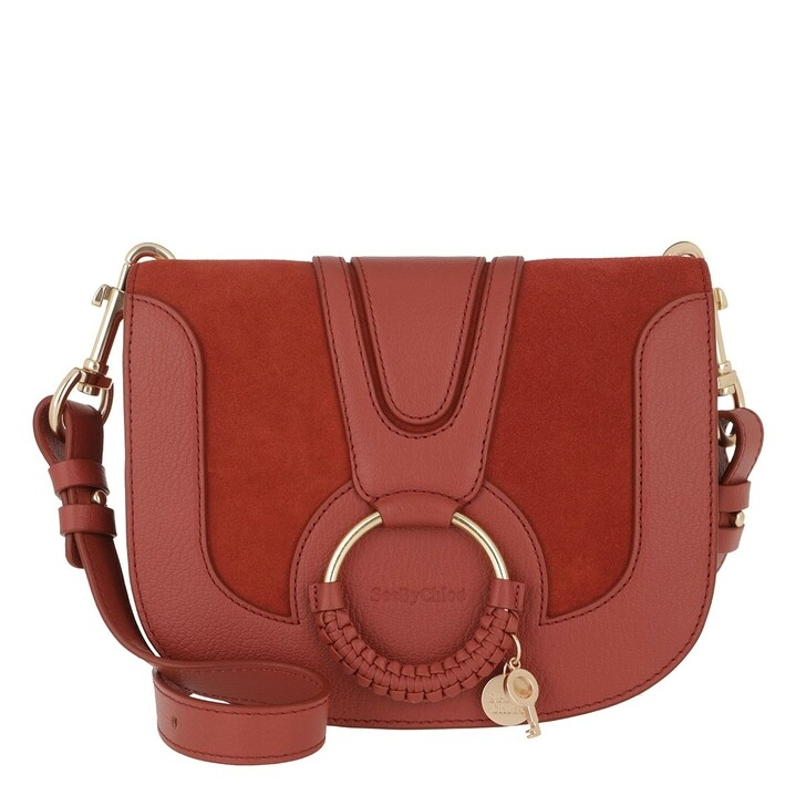 Handtasche, See By Chloé, Hana Crossbody Suede Smooth Faded Red