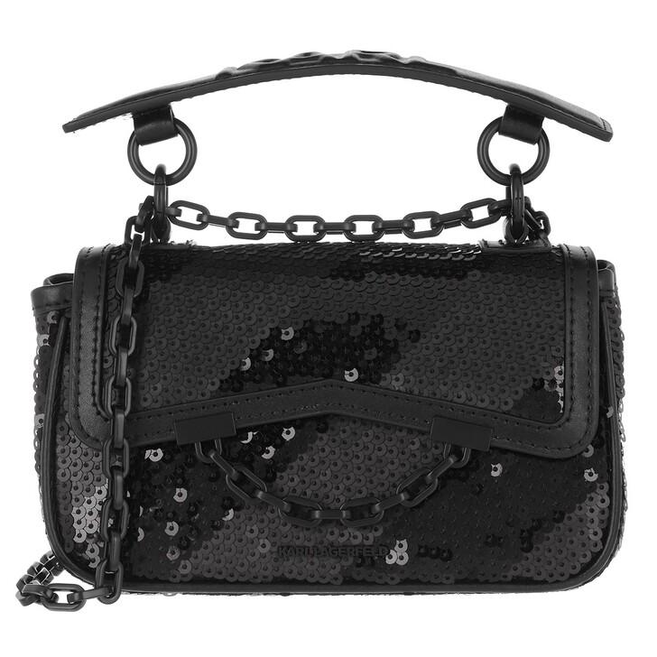 bags, Karl Lagerfeld, Karl Seven Soft Mini Shoulderbag  Black/Black