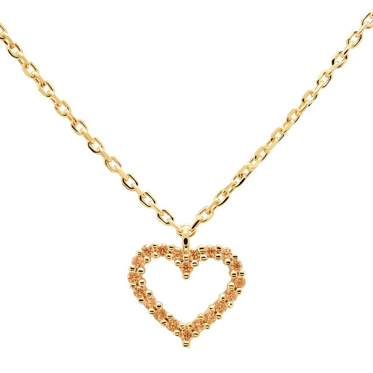Kette, PDPAOLA, Necklace Heart Champagne/Yellow Gold