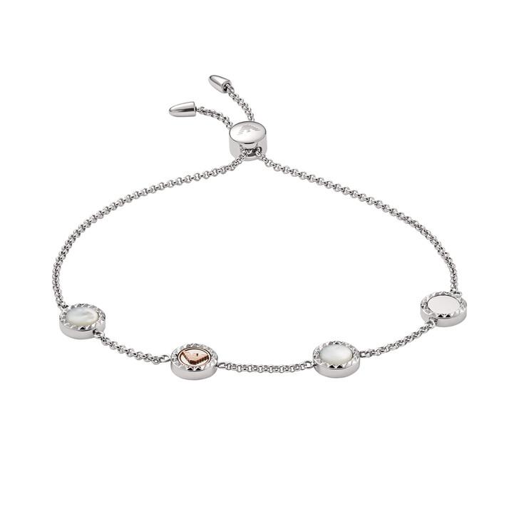 Armreif, Emporio Armani, Stainless Steel Slider Bracelet Silver